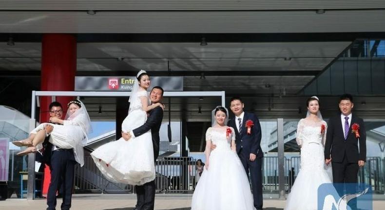 Wedding at the Standard Gauge Railway