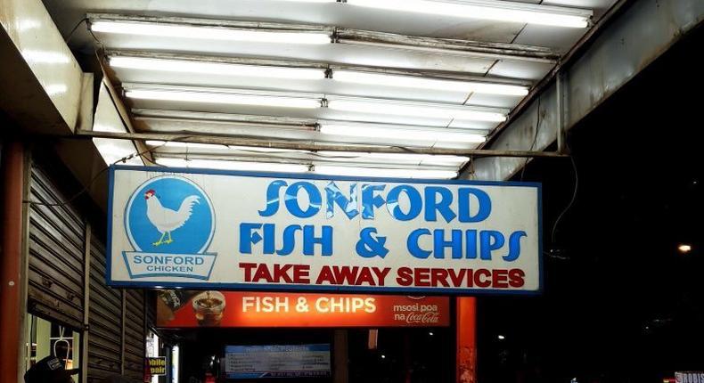 Sonford fish and chips restaurant along Moi Avenue, Nairobi.
