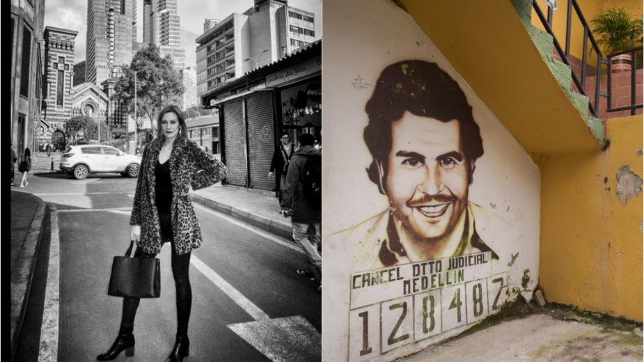 Anna Róg, mural z Pablo Escobarem w Medelin