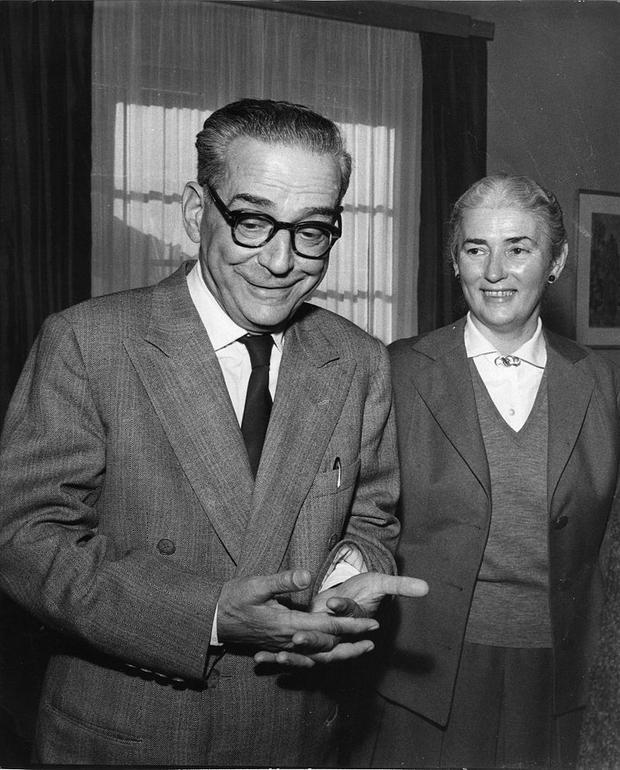 Ivo Andrić i Milica Babić 1961. godine