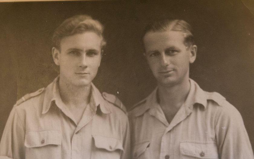 kpt. Henryk Bajduszewski z kuzynem