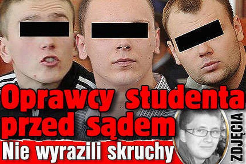 Zabójcy studenta przed sądem. Nie wyrazili skruchy