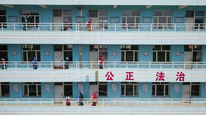 Dezinfekcija srednje škole u Hohotu