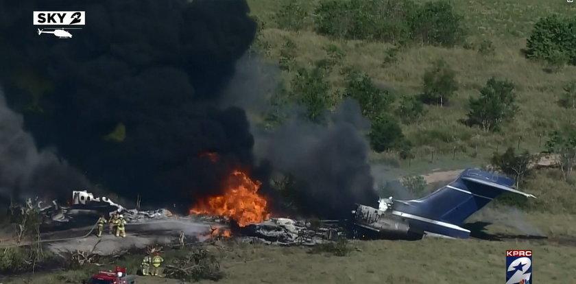 Samolot rozbił się w czasie startu i płonął jak pochodnia. To prawdziwy cud, że wszyscy przeżyli! [WIDEO]