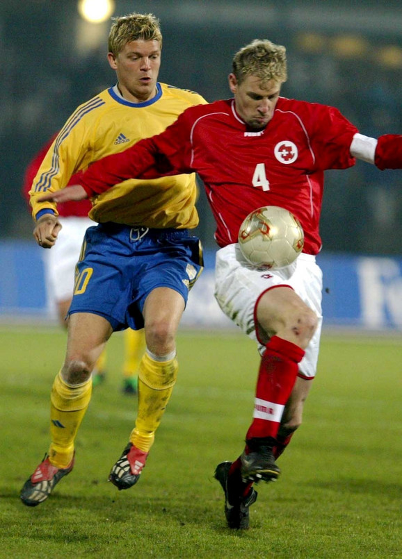 Stefan Enšo dok je bio kapiten Švajcarske