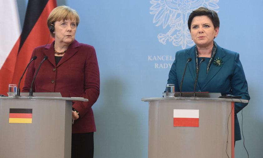 Angela Merkel Beata Szydło Warszawa