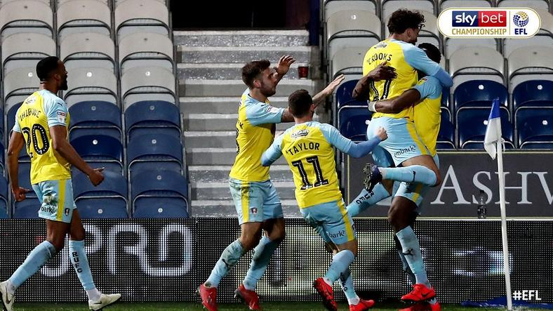Rotherham United players all celebrated with Semi Ajayi after his goal against QPR [Twitter/Sky Bet Championship]