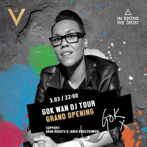 Gok Wan w Polsce - plakat Grand Opening trasy koncertowej