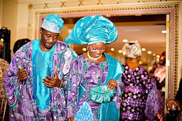 typical Aso-oke for traditional weddings