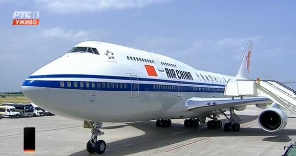 Avion kojim je Si Điping stigao u Srbiju