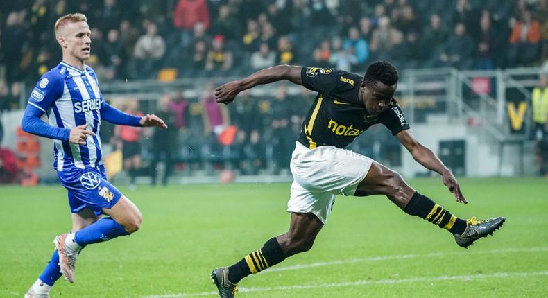 Kenyan international Erick Ouma Otieno on Monday, September 21 scored his first goal for Swedish club, AIK