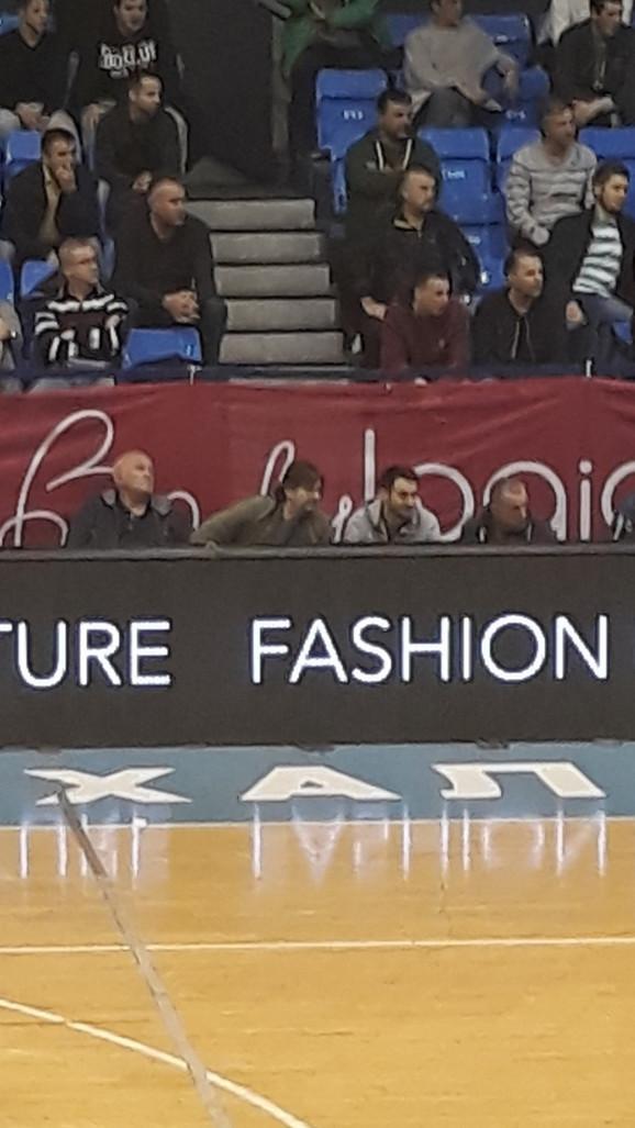 Andrea Trinkijeri, trener Partizana, uživo je pratio meč