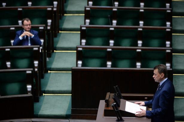 Mariusz Błaszczak przedstawia projekt ustawy o SOP