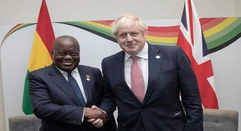 Nana Addo and Boris Johnson