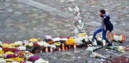 Skopała kwiaty i znicze na wrocławskim rynku. Kobieta będzie miała kłopoty