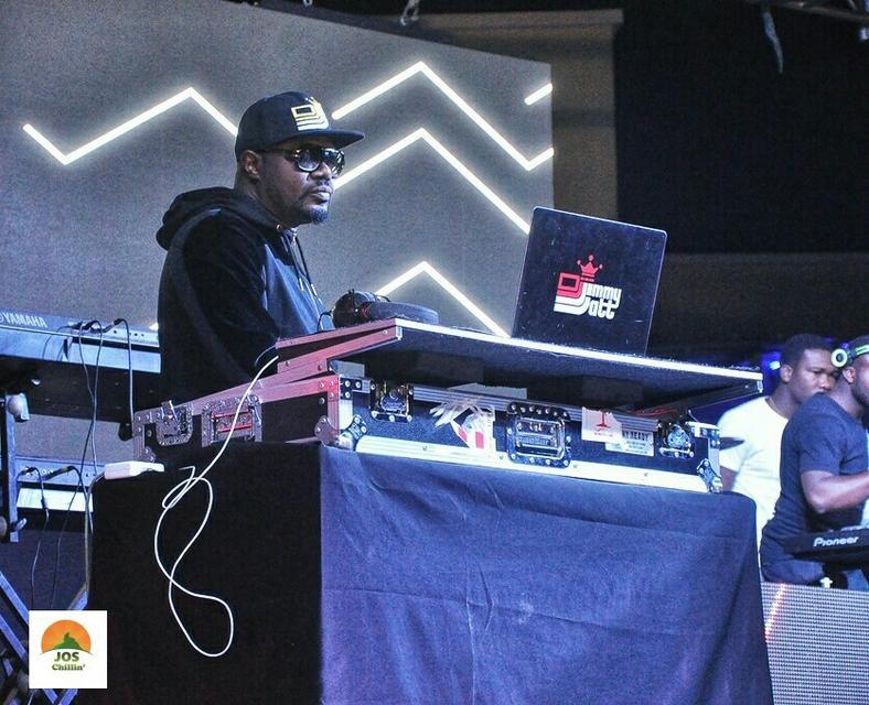 DJ Jimmy Jatt performing at Jos Chillin' Mega Fiesta 2019