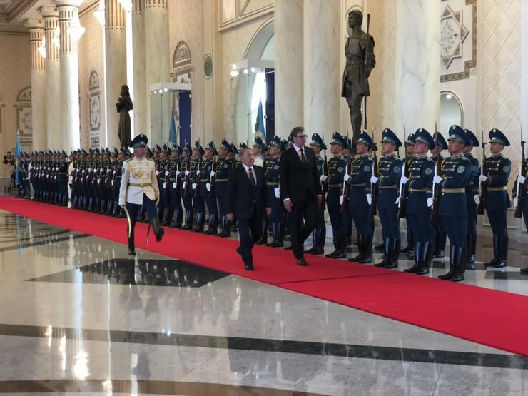 Vučić u Kazahstanu
