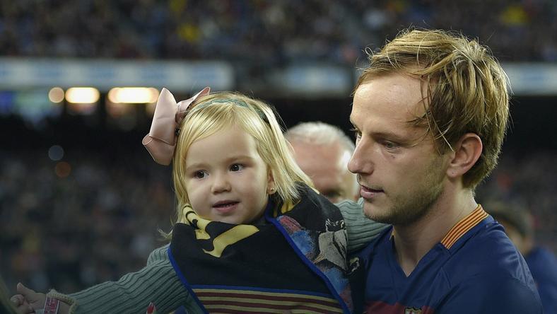 Ivan Rakitić z córką
