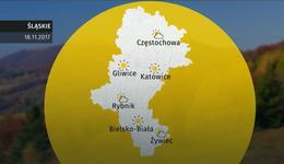 Prognoza pogody dla woj. śląskiego - 18.11