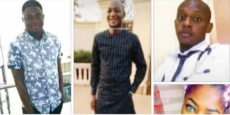 Students of Ambrose Alli University who were killed while celebrating their graduation.