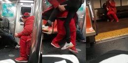 Porwał z metra śpiącą kobietę. Szokujący film!