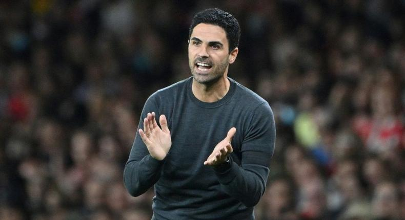 Arsenal's Spanish manager Mikel Arteta Creator: JUSTIN TALLIS