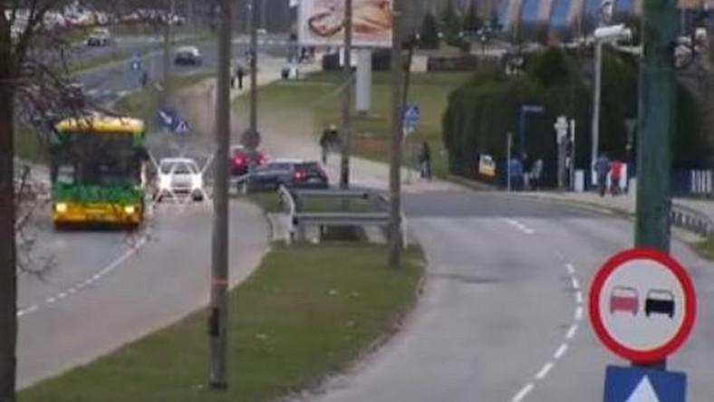 Widok z kamery monitoringu