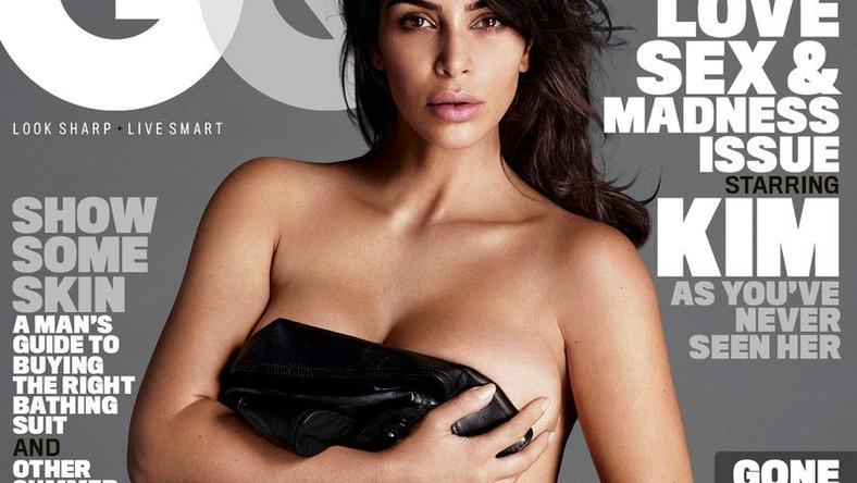 Kim Kardashian West on the cover of GQ magazine
