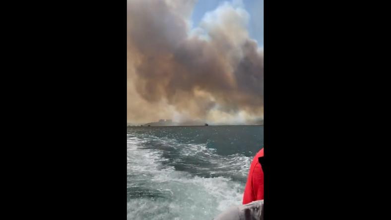 Polacy uciekają przed ogniem w Turcji