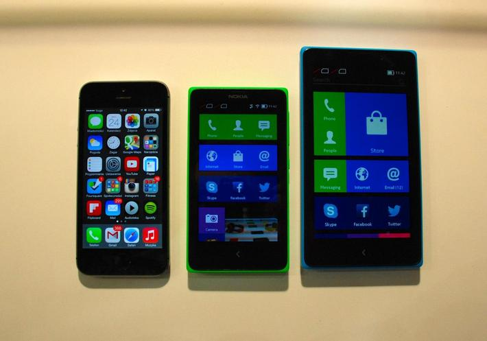iPhone 5S, Nokia X, Nokia XL