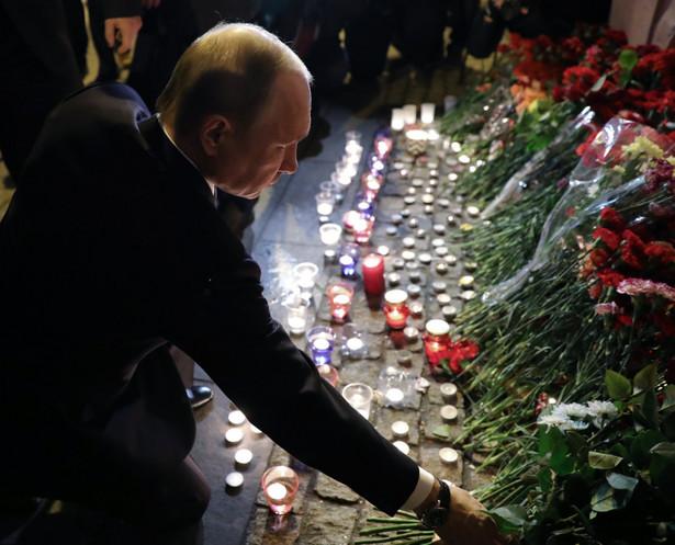 Putin żałoba po zamachu Petersburg Rosja
