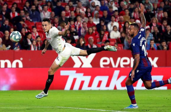 Detalj sa utakmice Sevilja - Levante