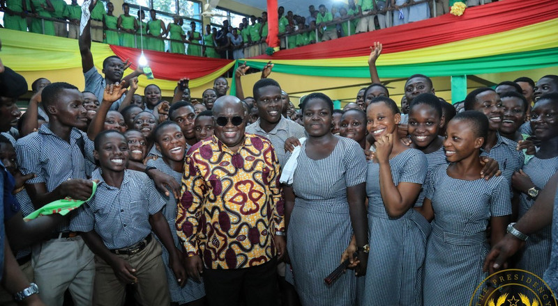 Free SHS is working; more students entering school than before- Akufo-Addo