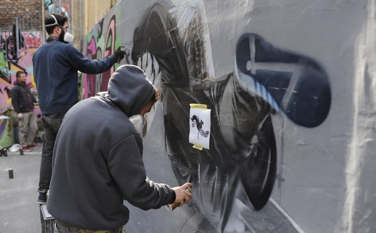 Crtanje grafita u OŠ Skadarlija