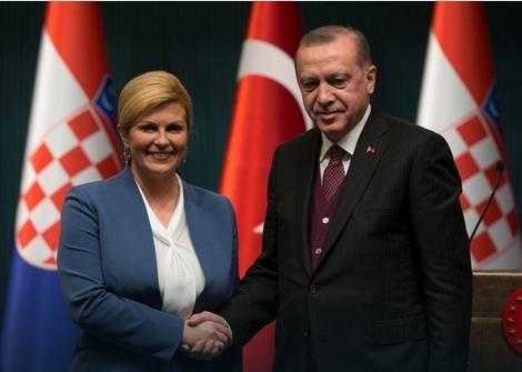 Kolinda Grabar Kitarović i Redžep Tajip Erdogan
