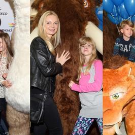 Polskie gwiazdy z dziećmi na imprezie w Centrum Handlowym Gocław