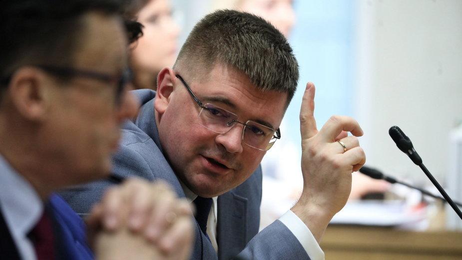 Tomasz Rzymkowski podczas posiedzenia sejmowej Komisji Sprawiedliwości i Praw Człowieka, 22.01.2020 r.