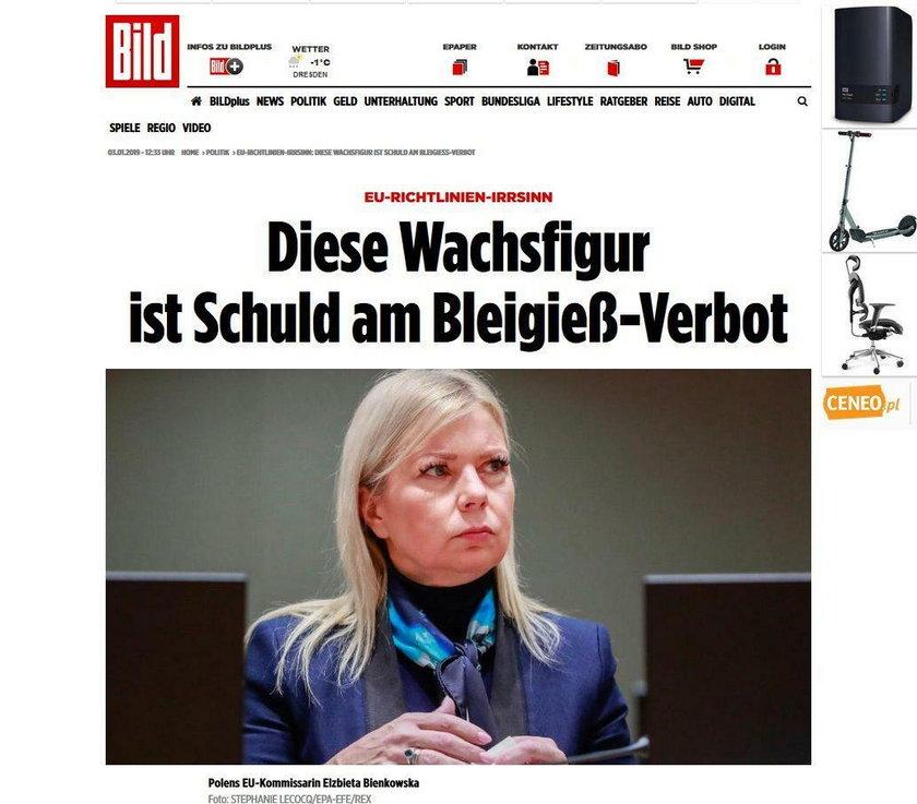 Elżbieta Bieńkowska podpadła Niemcom. Oskarżają ją o zniszczenie tradycji