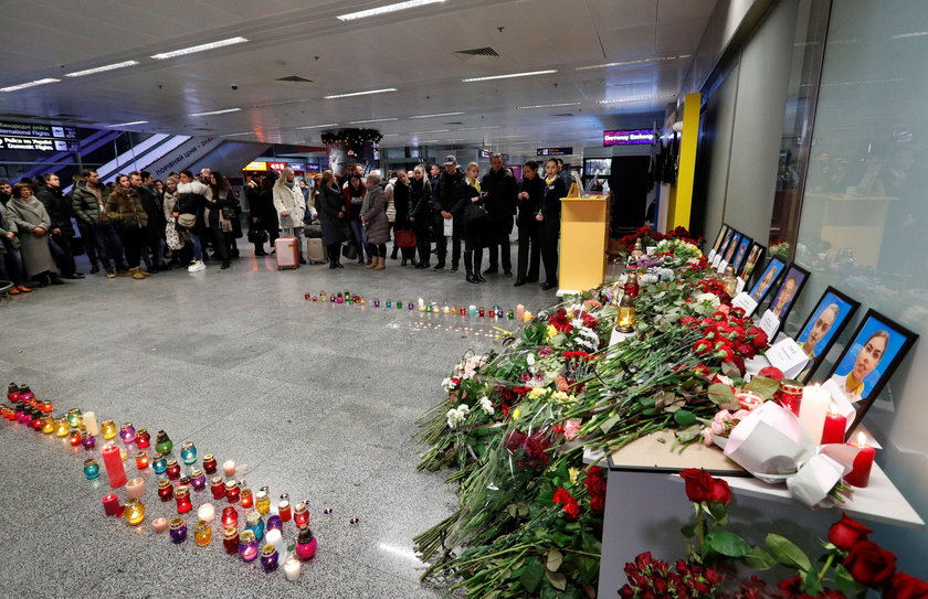Relatives of the flight crew members of the Ukraine International Airlines Boeing 737-800plane that