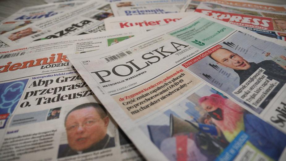 Tytuły dzienników z grupy Polska Press