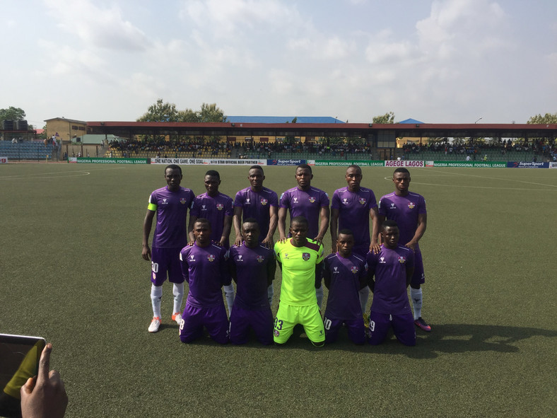 MFM FC team photo before their NPFL game against Remo Stars on Sunday, March 5 at the Agege Township stadium
