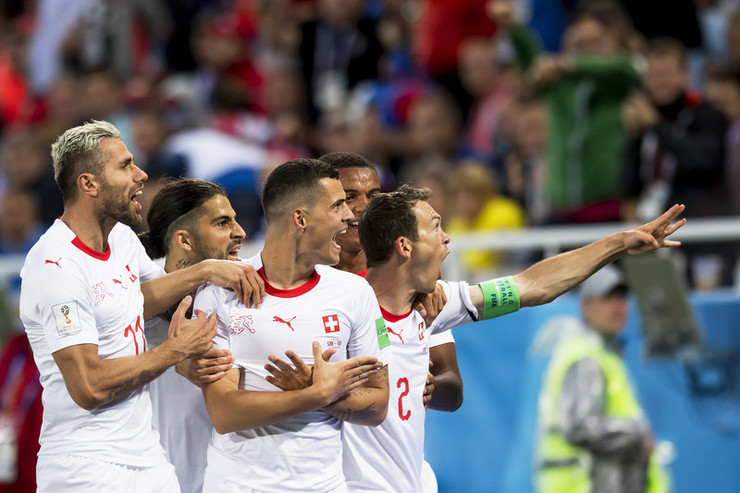 Detalj sa utakmice Srbija - Švajcarska