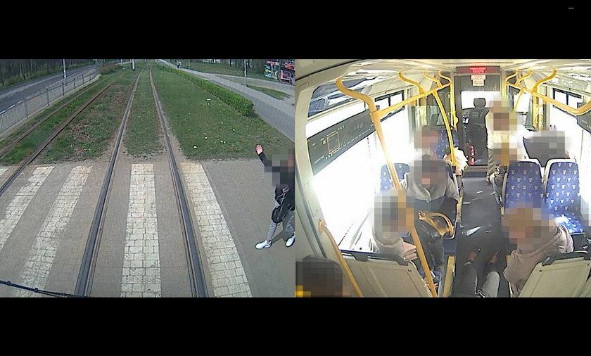 Hamowanie tramwaju może być fatalne w skutkach także dla jadących nim pasażerów.