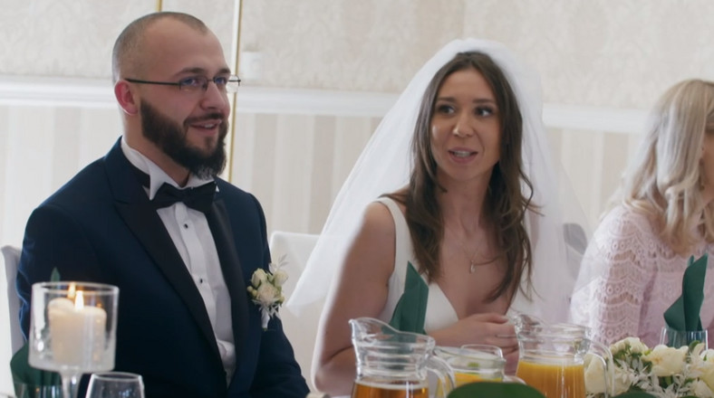 """""""Boda a primera vista"""".  Anita y Robert en la boda"""