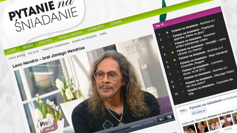 Leon Hendrix w TVP2