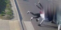 Potrącił na pasach cztery nastolatki. Przerażające nagranie!