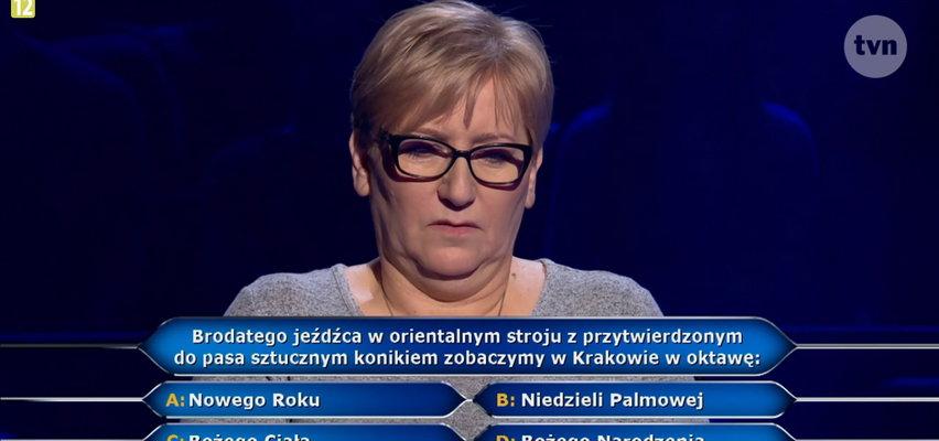 """""""Milionerzy"""" Lajkonika zobaczymy w Krakowie w oktawę Bożego Ciała czy Niedzieli Palmowej? Zawodniczka niestety nie wiedziała!"""