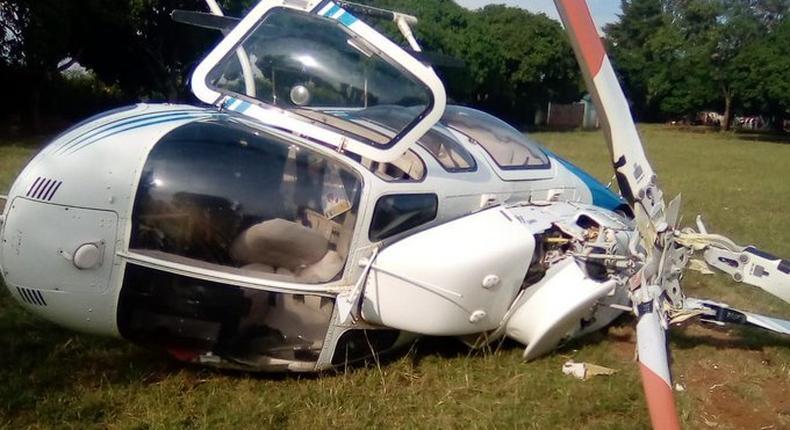 Raila safe after helicopter crashes
