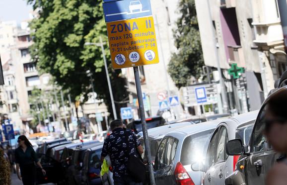Džabe parking po zonama