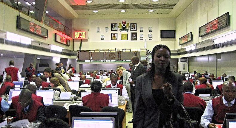 Nigerian stock market trading floor